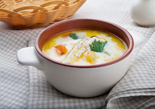 Рецепт сырного супа-пюре с курицей