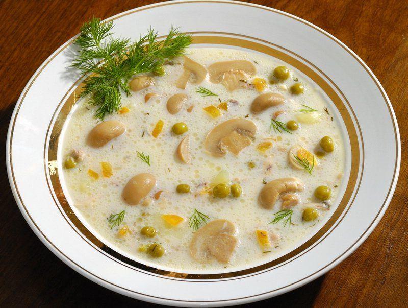 Суп с шампиньонами – рецепт приготовления