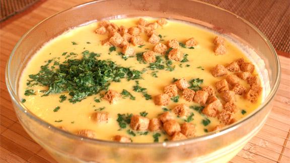 Сырный суп-пюре – рецепт