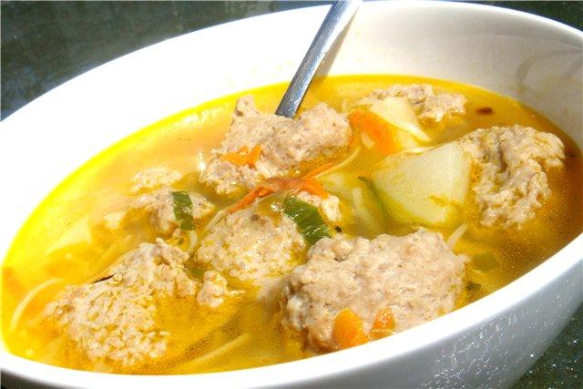 как варить куриный суп с клецками