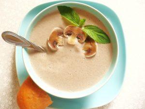 приготовить грибной суп пюре