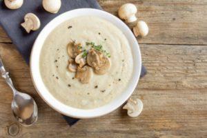 рецепт грибного супа пюре