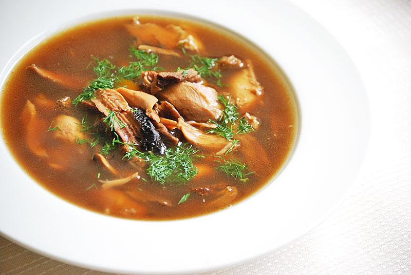 суп из сушеных белых грибов - рецепт