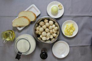 суп с шампиньонами - ингредиенты