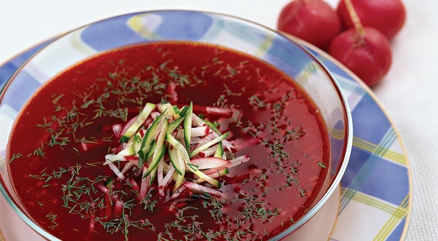 Вкусный суп свекольник