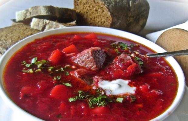 Рецепт классического свекольника с мясом