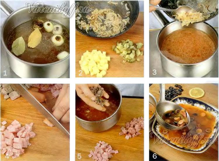 Солянка по домашнему рецепт