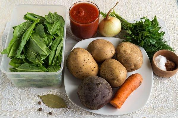 борщ зеленый ингредиенты