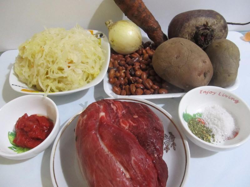 борщ из квашеной капусты ингредиенты