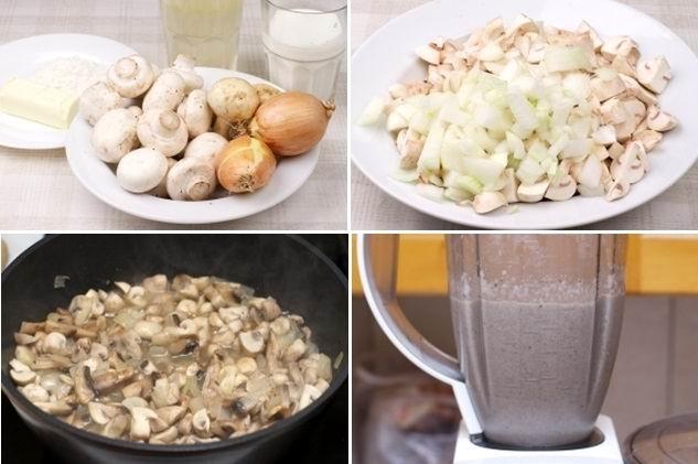 готовим крем суп из шампиньонов