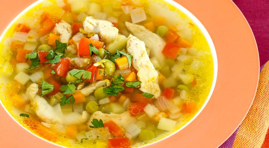 как приготовить суп на мясном бульоне