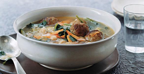 крем суп с грибами и фрикадельками