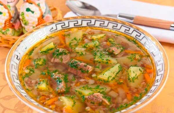 оригинальный суп на говяжьем бульоне