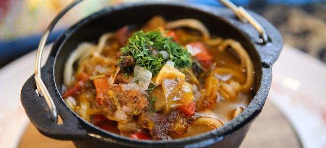 как готовить лагман из баранины