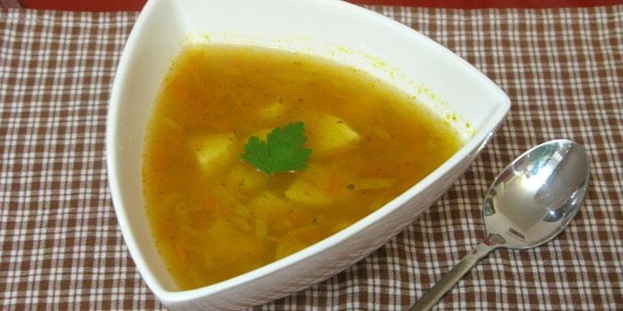 как готовить постный суп