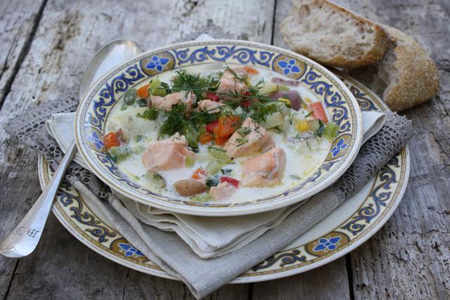 как готовить суп из семги