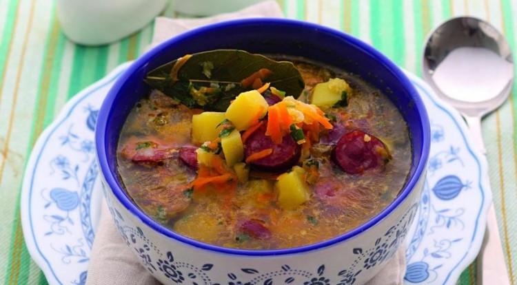 как готовить суп с колбасой