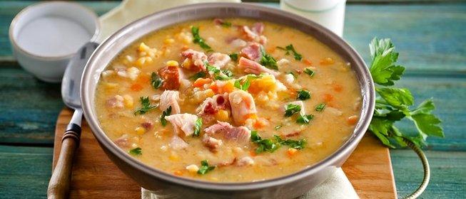 как готовить суп с копченостями