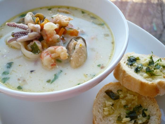 как приготовить суп из морепродуктов