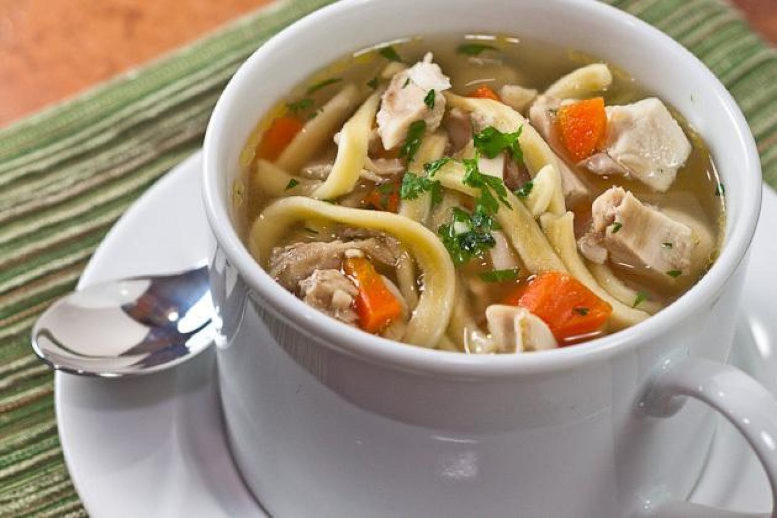 как приготовить суп с лапшой