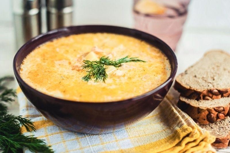 как сделать суп из семги