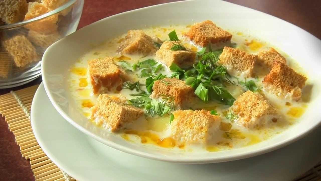 суп пюре сырный