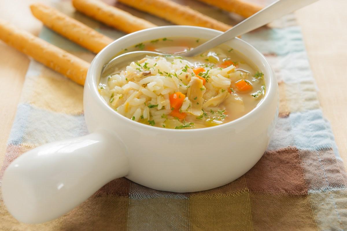 суп с рисом