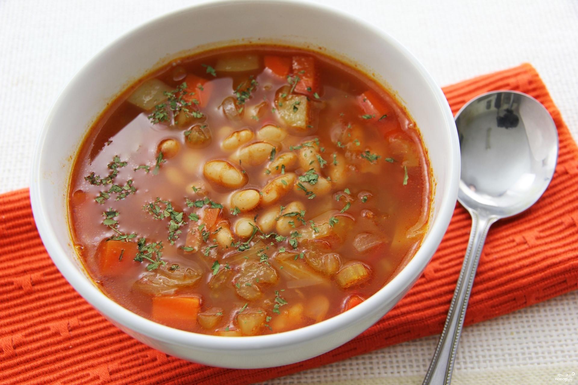 Суп из фасоли с картофелем