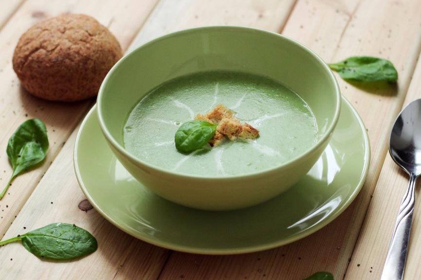 вкусный суп со шпинатом