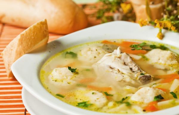 вкусный суп с галушками