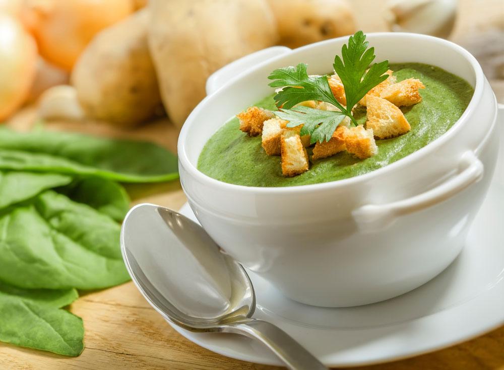 как готовить суп из шпината