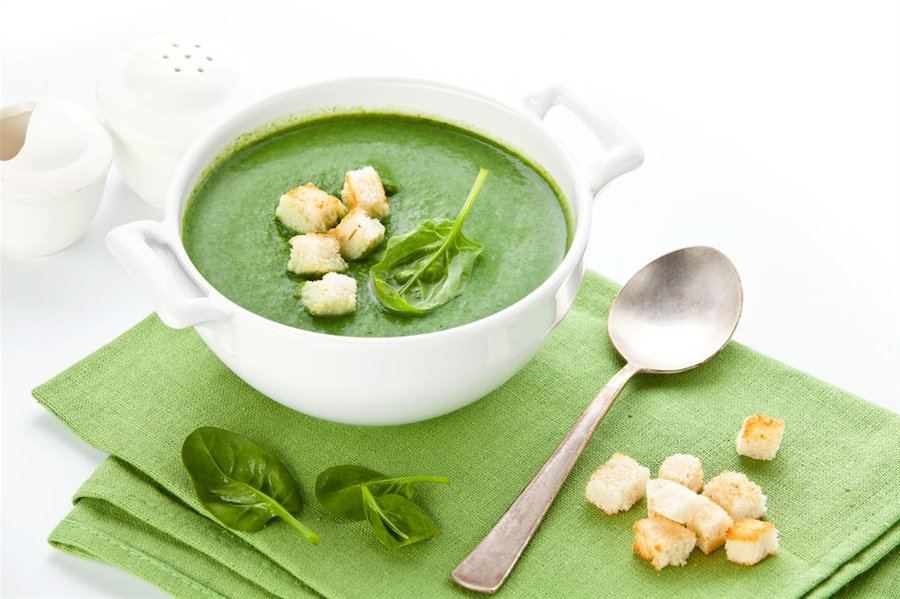 как сделать суп из шпината