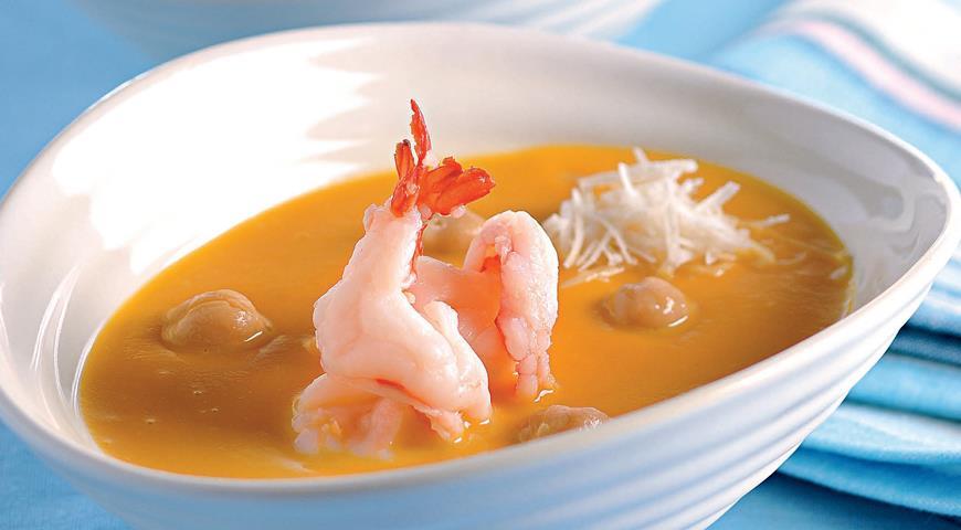 как сделать суп с креветками