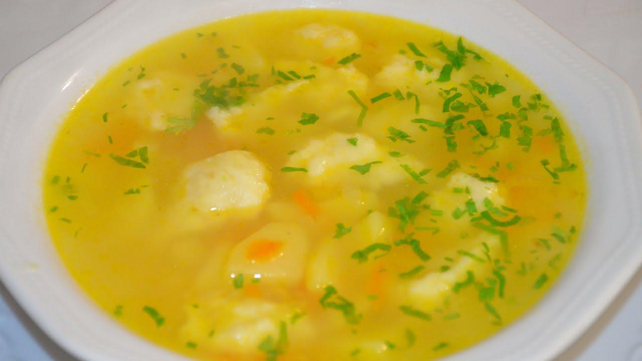 суп с галушками рецепты