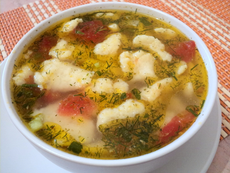 суп с галушками рецепт с фото