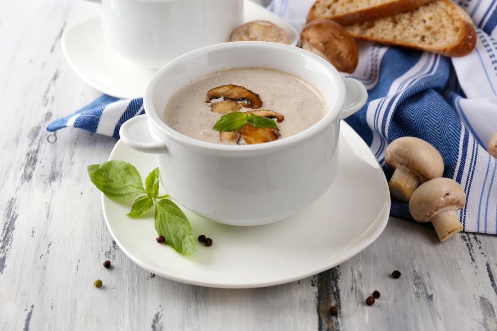 Грибной суп со сливками «Перловый»