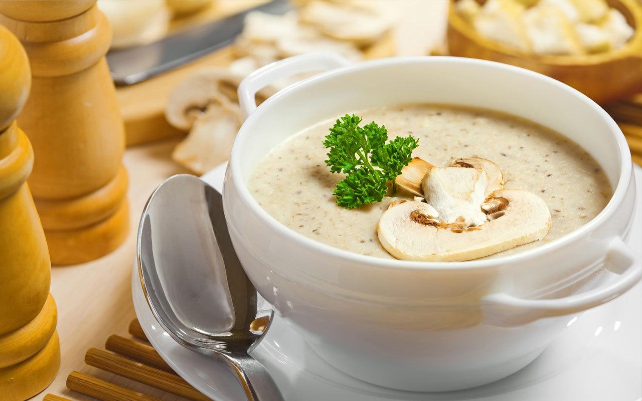 Грибной суп со сливками и плавленым сыром «Ароматный»