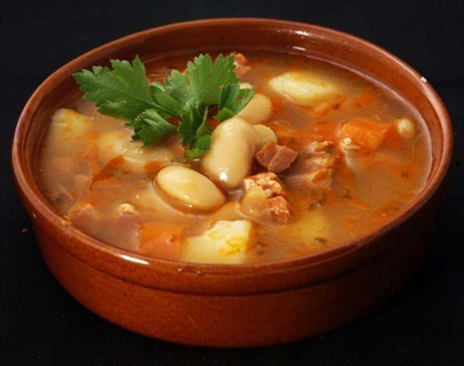 Куриный суп с белой фасолью консервированной