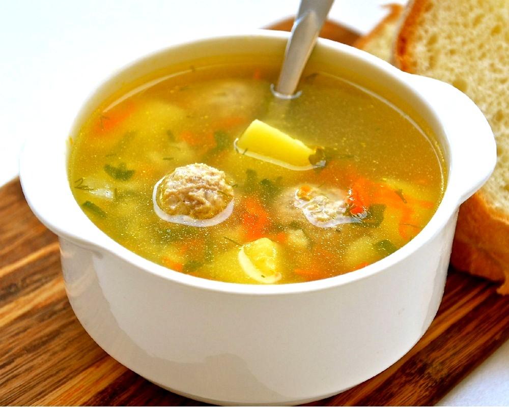 Суп детям с фрикадельками