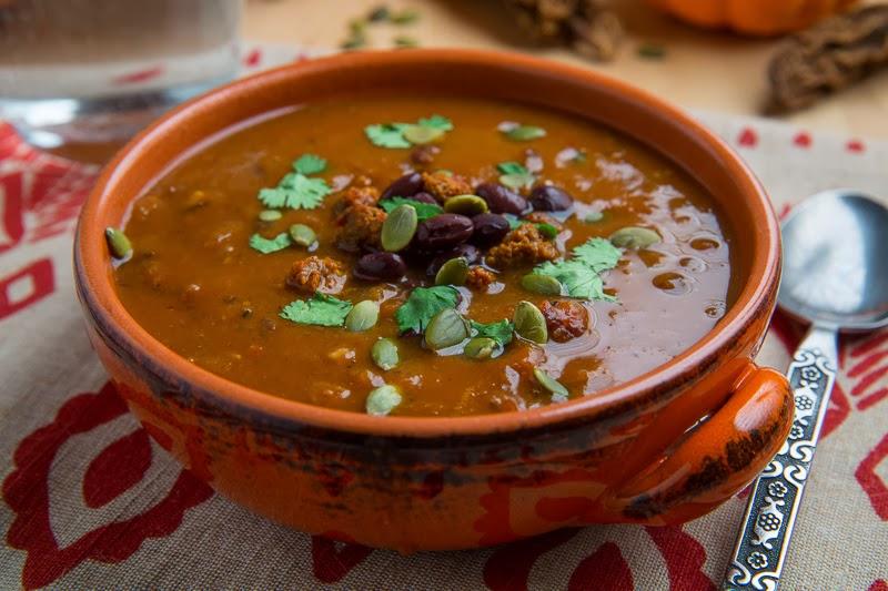 Суп-пюре из фасоли с рисом и сладким перцем