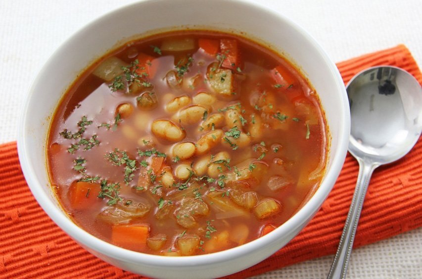 Суп с сухой фасолью