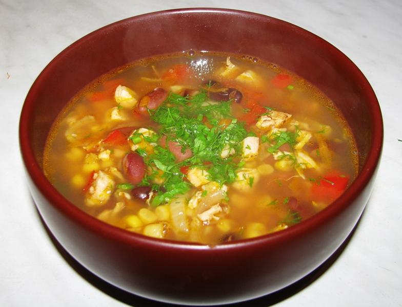 Фасолевый суп-пюре из консервированной фасоли «По-восточному»