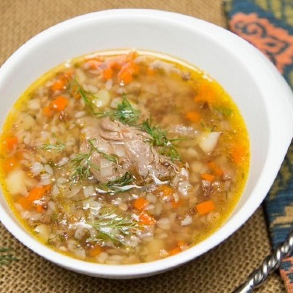 """Суп с мясом и картошкой """"Трава у дома"""""""